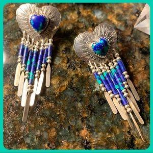 Carolyn Pollack silver & azurite chandelier posts